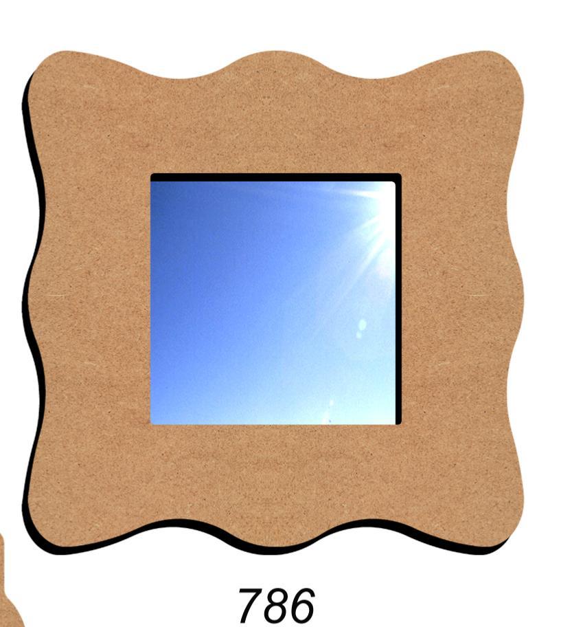 Miroir carr 38 cm fourniture mosaique miroir carr for Miroir vague