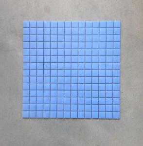 Bleu Lavande mosaïque émaux 2.4 cm brillant pleine masse plaque pour vrac
