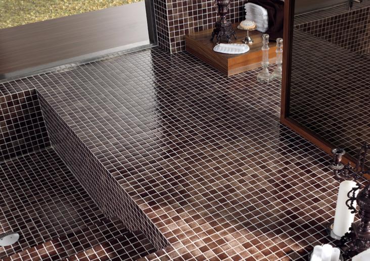 mosa que maux de verre brun marron par plaque de 33 5. Black Bedroom Furniture Sets. Home Design Ideas