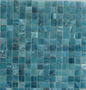 mosaique p te de verre avec gemmes bleu turquoise fonc plaquette pates de verre. Black Bedroom Furniture Sets. Home Design Ideas