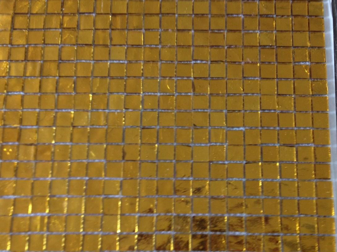 Mosa que miroir jaune dor 1 5 cm en plaque achat et for Miroir jaune