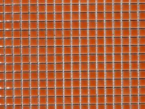 Orange micro mosaïque brillant par 100g