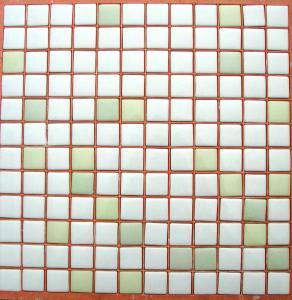 Mosaïque Pâte De Verre Carré Mélange Blanc Vert Plaque   Achat De Mosaïque  Salle De Bain Pas Cher