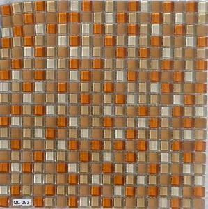 Mosaïque Pâte De Verre Couleur Orange Et Beige Plaque   Vente De Mosaïque  Salle De Bain