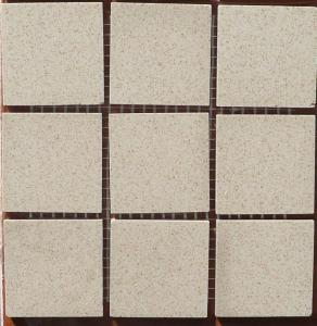 Blanc sable brun rouge 5 par 5 cm mosaïque grès ceram antique paray par 1000g