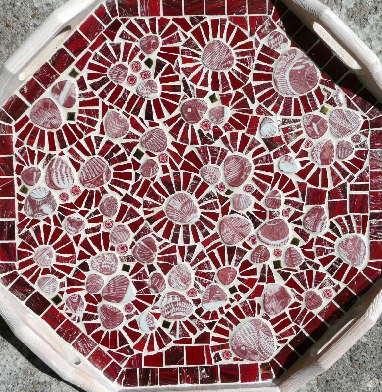 mosa que galets maill s rose porcelaine coquillage vente en ligne de galet maill. Black Bedroom Furniture Sets. Home Design Ideas