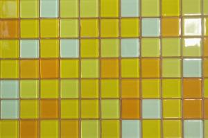 Jaune Mix jaune orange brillant mosaïque vetrocristal 2.5 cm par 200 g