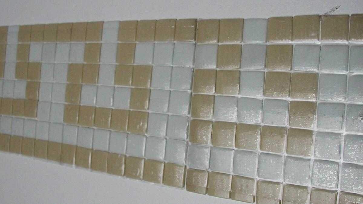 mosa que frise maux de verre sur mesure mosa ques verre frise byzantine blanc cass. Black Bedroom Furniture Sets. Home Design Ideas