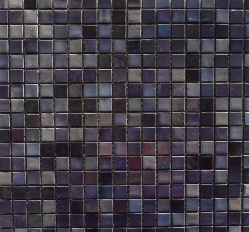 Mosa que maux de verre venise mosaique bleu violet 1 5 for Pose de mosaique de verre