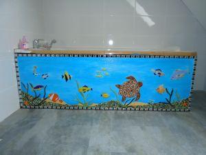 d cor tablier baignoire en mosaique par l 39 association le. Black Bedroom Furniture Sets. Home Design Ideas