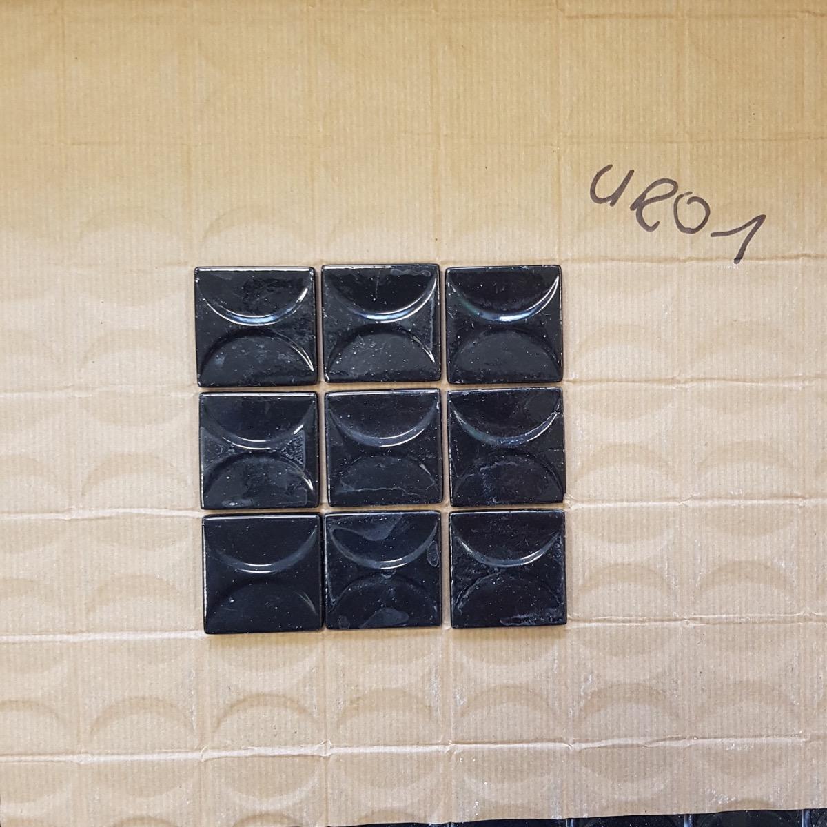 Recouvrir Carrelage En Relief noir relief demi cercle vintage chic 4 cm mosaïque émaux par m²