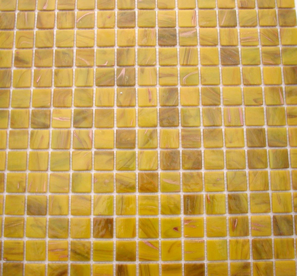 Jaune Mosaïque Pâte De Verre Jaune Safran Gemme Par Plaque