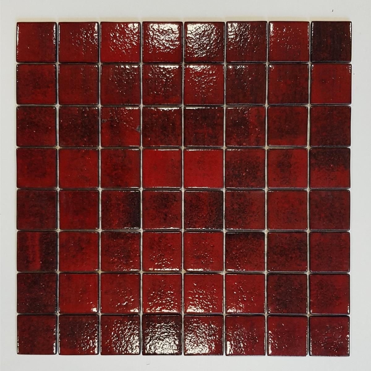 Mosaique Carrelage Rouge Lave 4 Cm Par Plaque Achat Mosaique Carrelage Salle De Bain