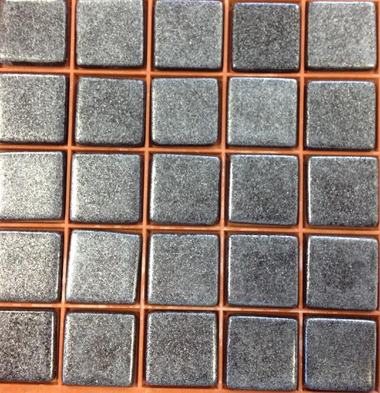 Mosa que p te de verre gris mat capricorn mosa que m tal for Carrelage gris metallise