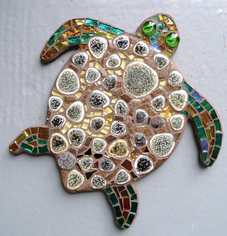 Tortue de mer support mosa que animaux tortue de mer for Mosaique exterieur