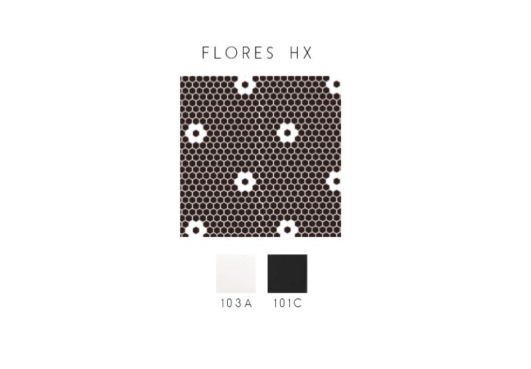 Mosaique Decor Flores Art Deco Hexagone Blanc Et Noir 1 M Mosaique