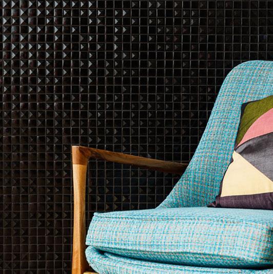 mosaïque émaux de verre , noir pyramide relief par plaque de 33.5 ... - Salle De Bain Mosaique Noire