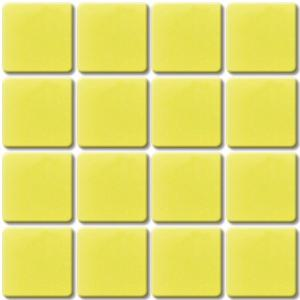 Jaune mosaïque Jaune 03 smalti brillant par 36 carreaux