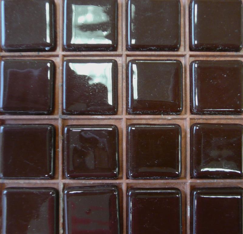 emaux de verre mosa que brun chocolat fonc 2 5 cm 100. Black Bedroom Furniture Sets. Home Design Ideas