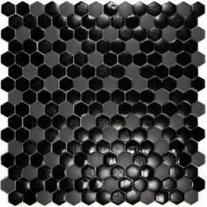 mosa que p te de verre hexagone noir gris plaque achat. Black Bedroom Furniture Sets. Home Design Ideas