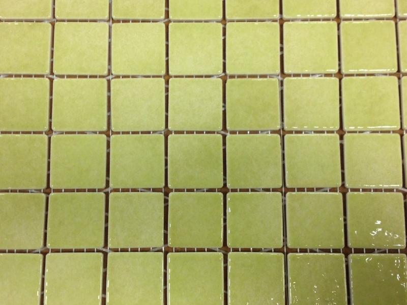 Mosa que maux de briare marjolaine vert jaune anis par for Carreaux de briare