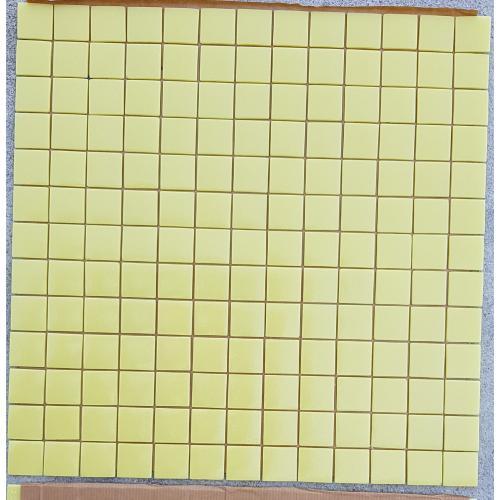 Jaune clair uni mosaïque émaux mat/satiné 2.5 cm plaque pour vrac