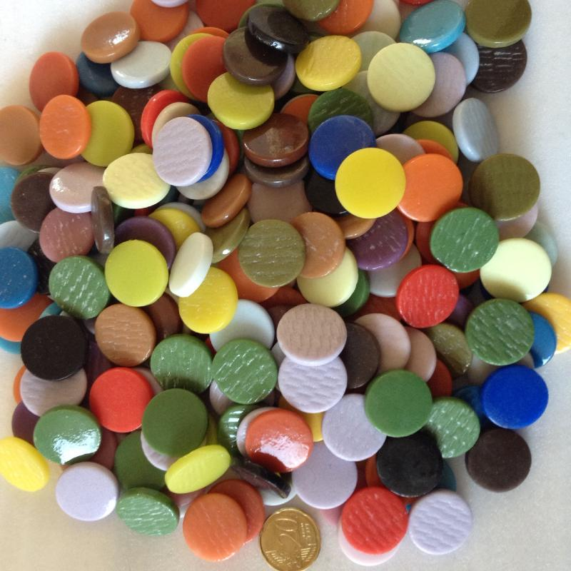 mosa que ronde plate pastille m lange couleur par 200. Black Bedroom Furniture Sets. Home Design Ideas