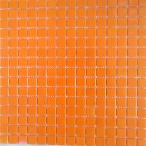 Orange jaune mosaïque pâte de verre jaune orange uni par plaque