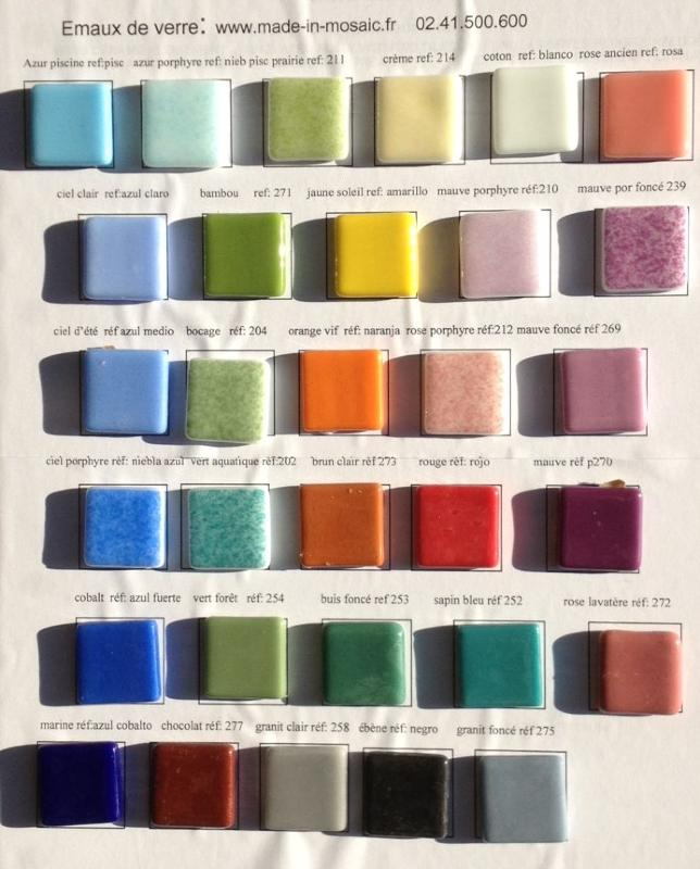 Emaux de verre nuancier des mosaiques emaux de verre made in mosaic - Briare carrelage ...