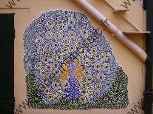 Mod le paon en mosaique made in mosaic - Mosaique sur mur exterieur ...