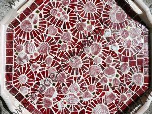 Tableau coquillage rouge mosaique modele image en - Modele mosaique a imprimer ...