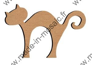 chat debout mosaique chat 15 cm en mosaiques objet chez made in mosaic. Black Bedroom Furniture Sets. Home Design Ideas