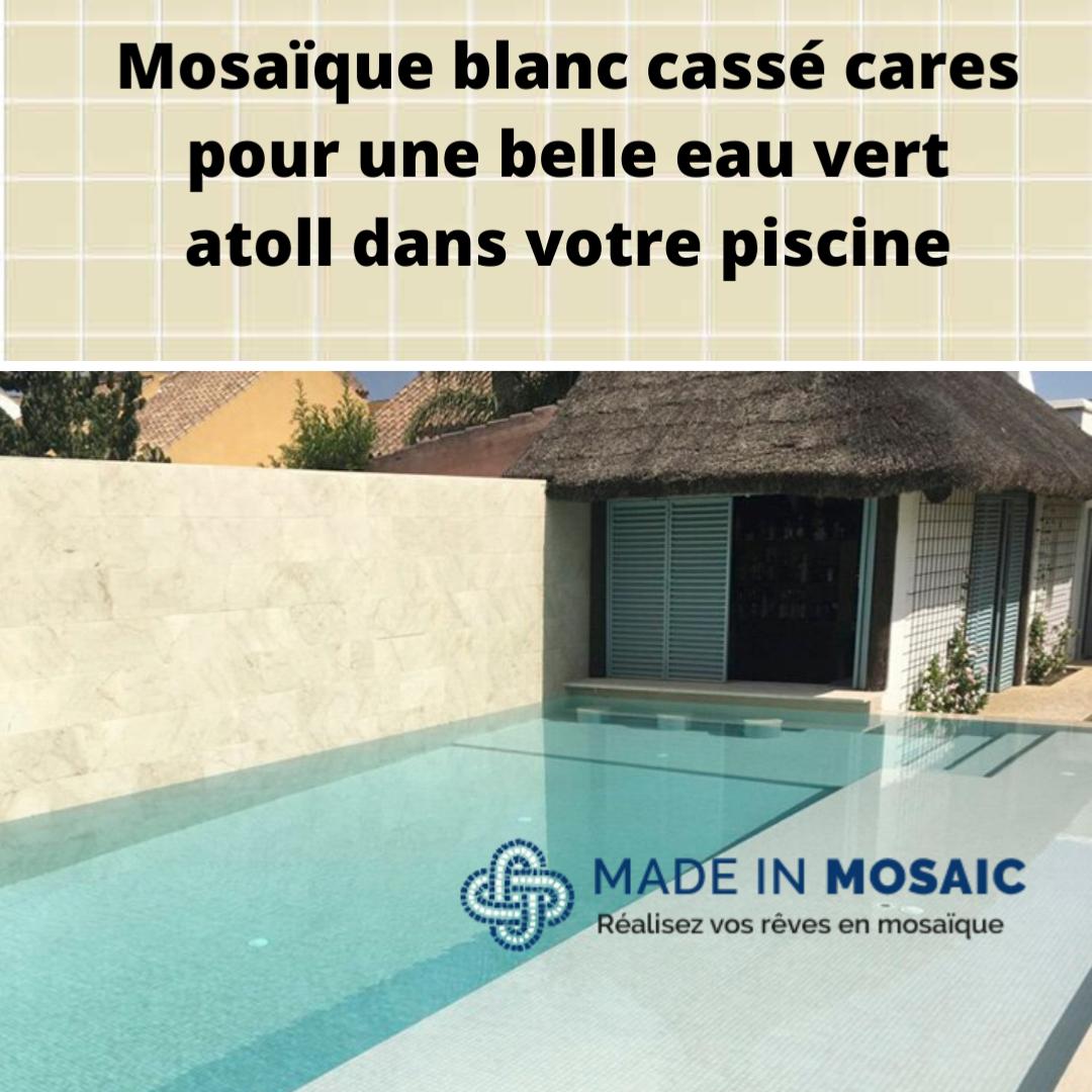 Mosaique Emaux De Verre Blanc Ivoire Par 2 M Achat Mosaique Salle De Bain