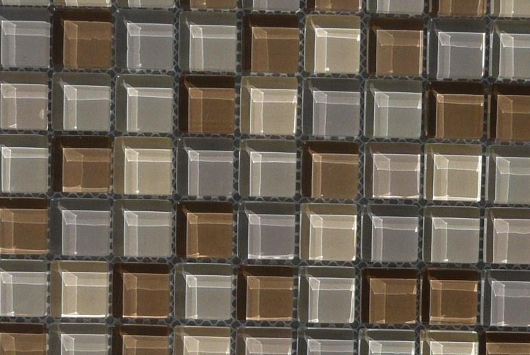 Mosa que p te de verre brun mat et brillant plaque vente - Salle de bain avec frise mosaique ...