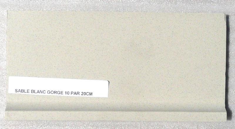 Carrelage plinthe gorge blanc sable mat achat de for Plinthe carrelage blanc