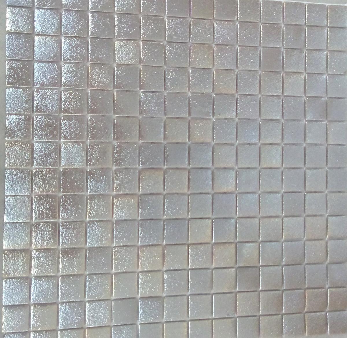 Mosaïque pâte de verre carré gris argent plaque - Achat de mosaïque ...