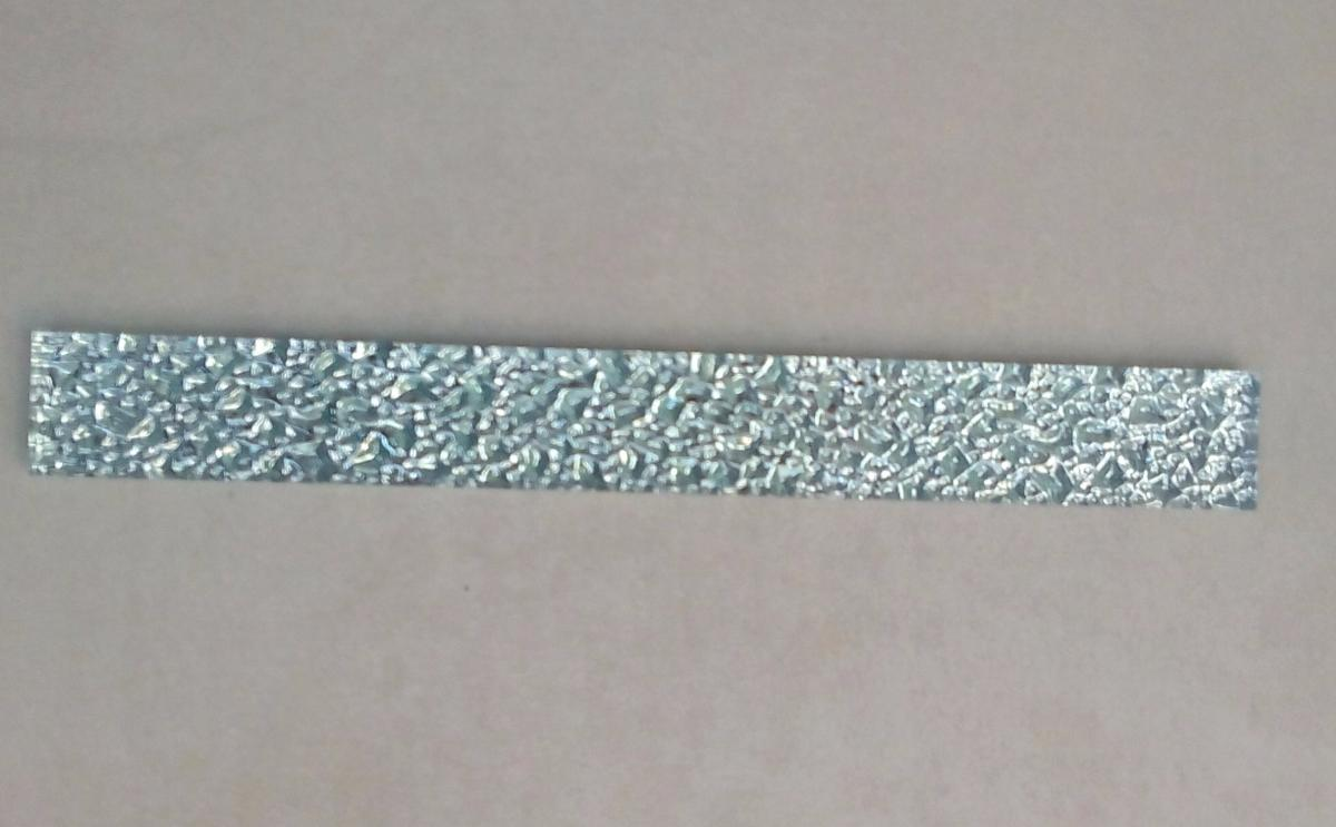 Mosaïque carrelage et frise, argent listel barrette gaufré 20 cm ...