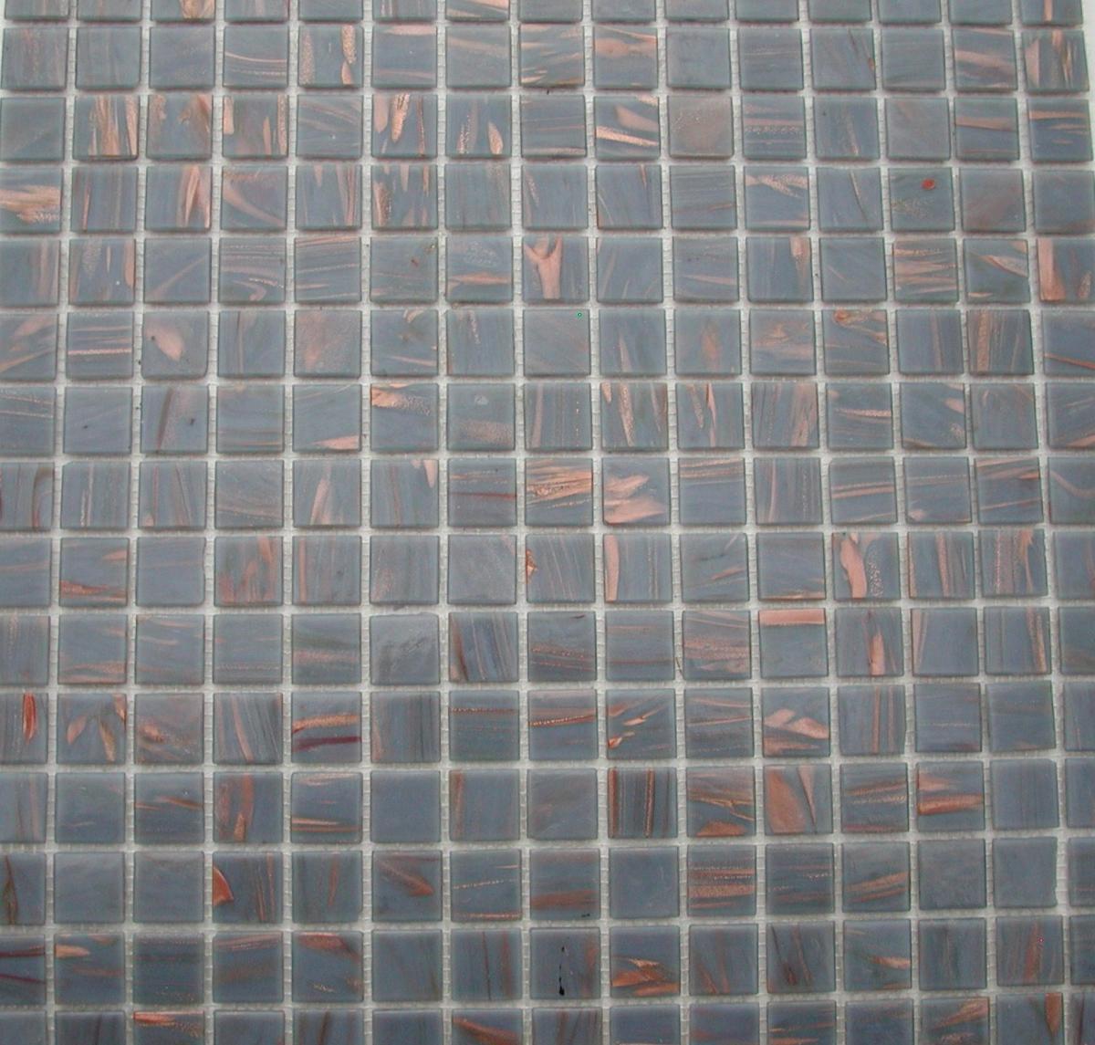 Mosa que p tes de verre au m mosa que gris chic gemm 2 for Mosaique pate de verre salle de bain
