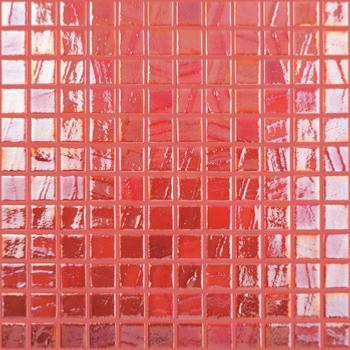 Mosaïque émaux de verre , rouge nacré pinceau par plaque de 30 cm ...