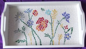 Plateau mosaique modele en mosaiques de plateau g om trique chez made in mosaic - Modele de creation en mosaique ...