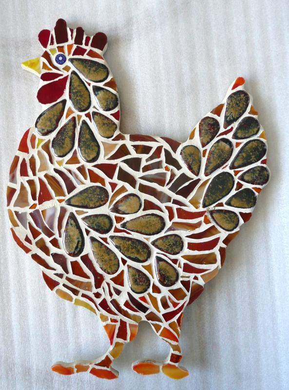 Poule 26 cm support mosaïque animaux - poule pour mosaïque chez made ...