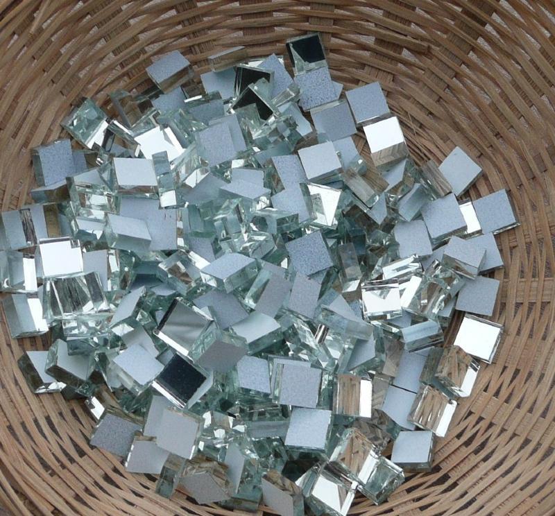 Mosa que miroir format 1 par 1 cm pour vos cr ations for Piscine bord miroir