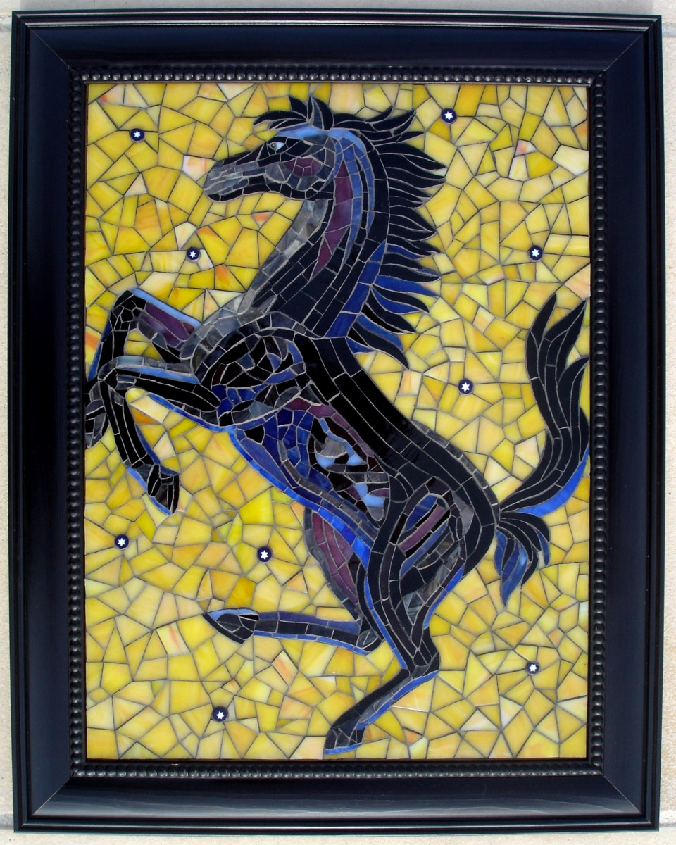 cheval cabr mosa que cheval 15 cm en mosaiques objet chez made in mosaic. Black Bedroom Furniture Sets. Home Design Ideas