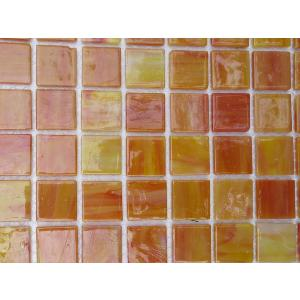 Jaune orange saturne mosaïque Tiffany par 16 carreaux