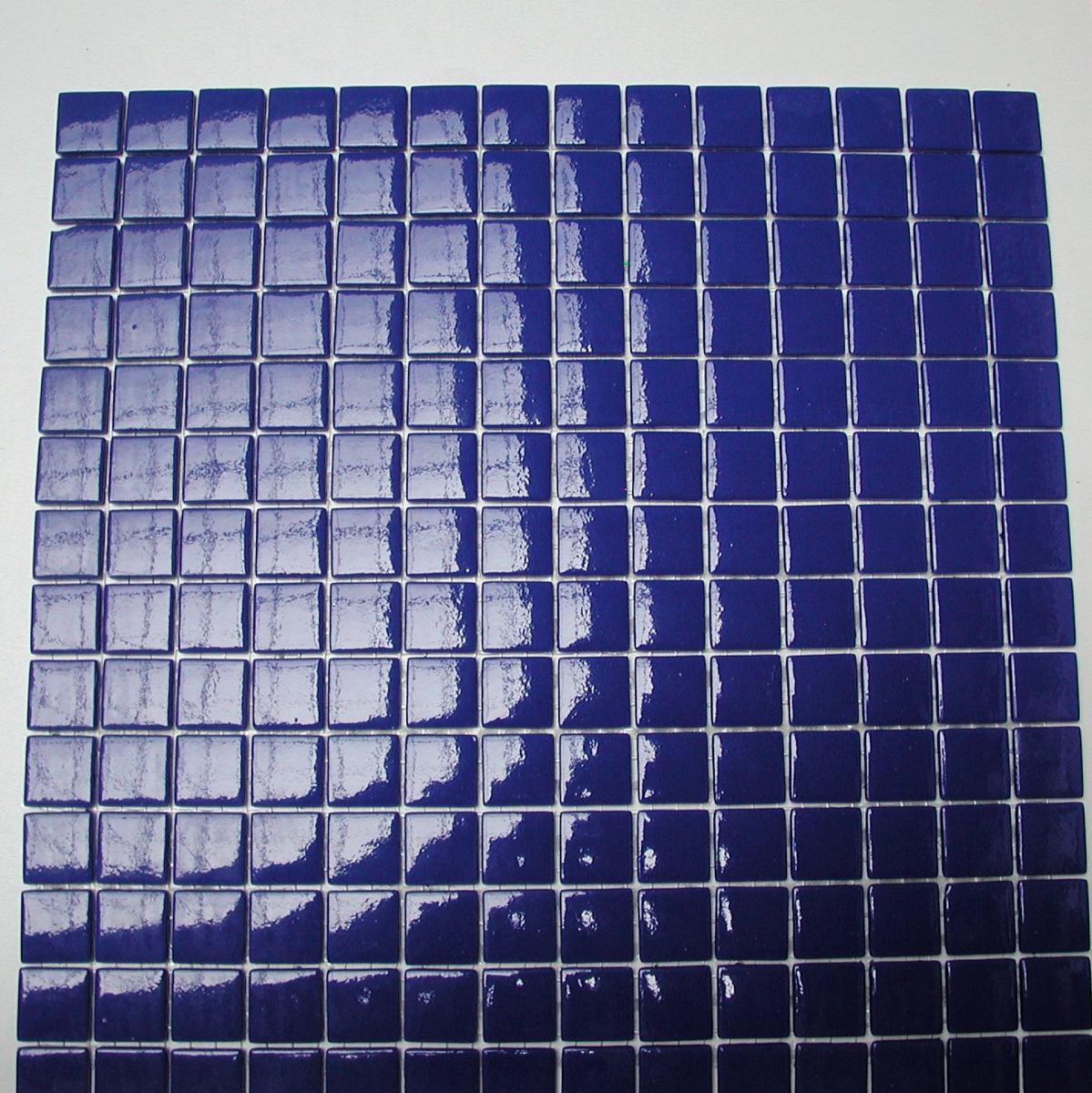 Bleu cobalt foncé Majorelle mosaïque émaux 2.4 cm brillant pleine masse  plaque