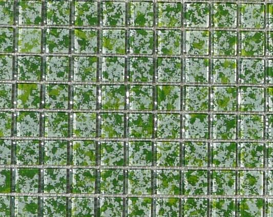 Mosa que p te verre couleur vert feuillage plaque vente for Carrelage mural vert