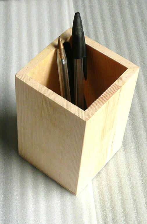 bo te crayon pot en bois pour mosa que de verre chez made in mosaic. Black Bedroom Furniture Sets. Home Design Ideas