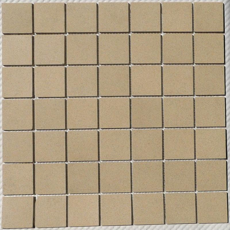 Mosaique carrelage jaune chamade 5cm mat achat de for Achat carrelage mosaique