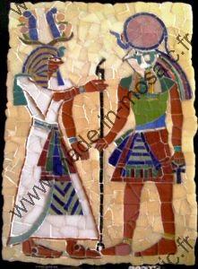 Tableau Portrait Mosaique Modele Image En Mosaiques