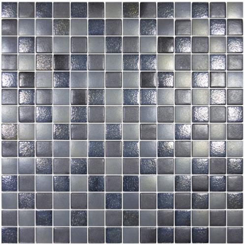 Noir gris nacré et uni carré NÉO mosaïque émaux brillant mix effet par 20  carreaux